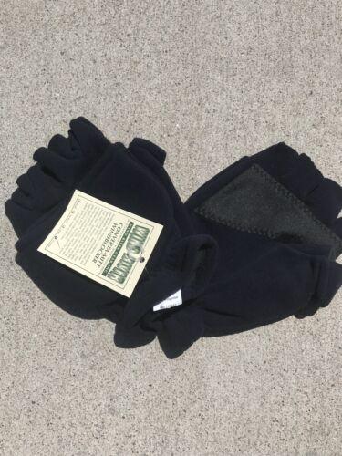 Convertible Mitt Fingerless Fishing Windblock Gloves XL Blue Wind River Simms