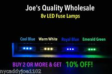 (100)BLUE/ WHITE 8V FUSE LAMPS LEDs !TUNERS/AUDIO/2220 2238 2226 4270/RECEIVER