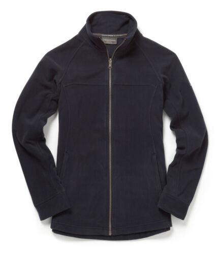 Navy//Black Craghoppers Full Length Zip Ladies Basecamp Micro Fleece Jacket