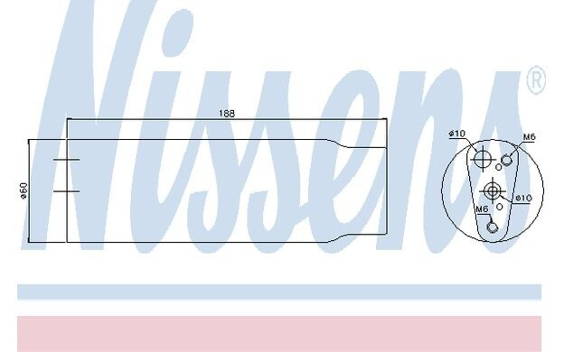 NISSENS Filtro deshidratante, aire acondicionado PEUGEOT VOLKSWAGEN GOLF 95170