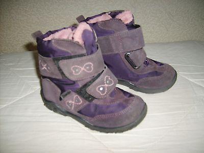 PEPINO Mädchen Stiefel Echtleder Wieldleder dunkelviolette Gr.23