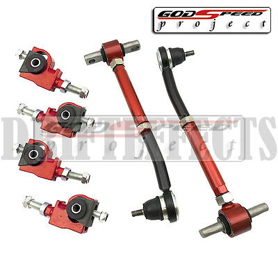 GSP 90-97 ACCORD 97-99 CL 96-98 TL RED FRONT+REAR ADJUSTABLE CAMBER ARM KIT JDM