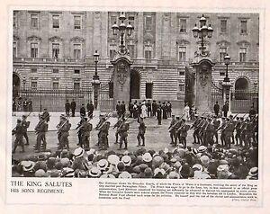 1914 Imprimé Première Guerre Mondiale ~ Grenadier Guards Salut De King Zmzfluoy-07233418-684879344