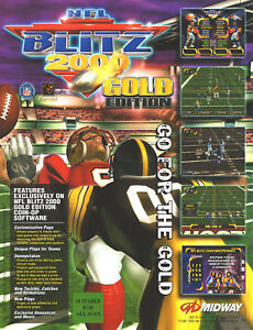 Video Flyer Mint Providing Amenities For The People; Making Life Easier For The Population Collectibles Arcade Gaming Lower Price with 1999 Midway Nfl Blitz 2000 Gold Ed