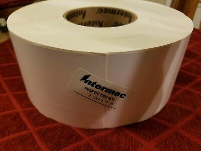 """Imported From Abroad Intermec By Honeywell Labels 900+ Per Roll Gloss Finish 1 Roll 3""""x6"""""""