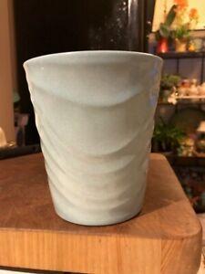 Vintage-German-Blue-Pottery-VASE-FLOWER-POT-Planter-Made-in-Germany-6-034