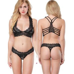 3ea05f7dff Image is loading UK-Womens-Ladies-Lingerie-Underwear-Set-Lace-Bralette-