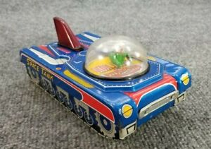 VINTAGE-TIN-LITHO-FRICTION-TOY-SPACE-TANK-V-7-MADE-IN-JAPAN