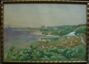 HANS-STANDHARDINGER-1897-KUSTE-MOLTENORT-BEI-KIEL-OSTSEE-VERZEICHNET-GOUACHE