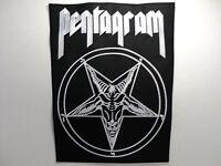 Pentagram Embroidered Back Patch
