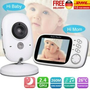 Wireless LCD Babyphone Baby Monitor Babyviewer Nachtsicht mit Kamera Babypflege