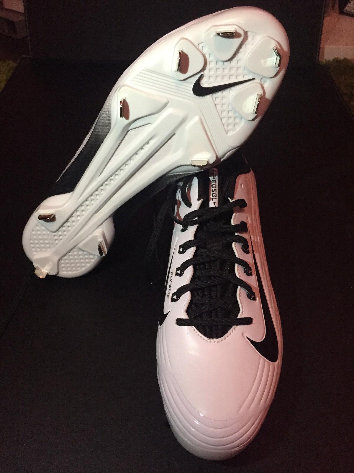 9c0218ba5 Nike Lunar Vapor Pro Low Sz 12 Black White Baseball Metal Cleats Shoes for  sale online