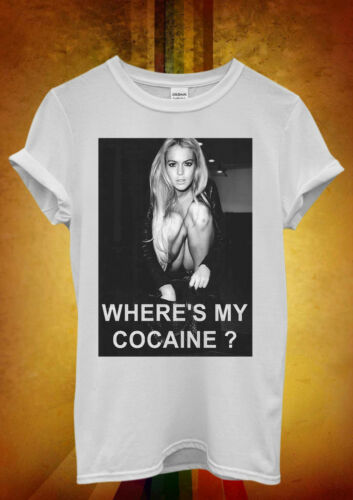 Where is My Cocaine Night Out Funny Men Women Unisex T Shirt Tank Top Vest 1286
