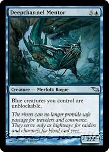 DEEPCHANNEL-MENTOR-Shadowmoor-MTG-Blue-Creature-Merfolk-Rogue-Unc
