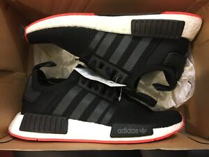 1721a2ad3bdff NEW ADIDAS NMD R1 BRED BLACK RED ORIGINALS RUNNING SHOE CQ2413 SIZE ...