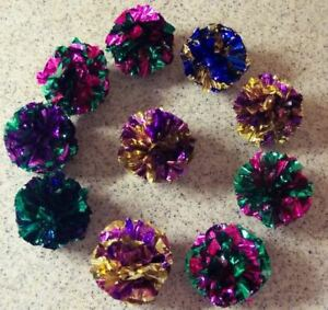 10-lot-MYLAR-balls-crinkle-cat-toys-kitten-toy-ball-free-shipping