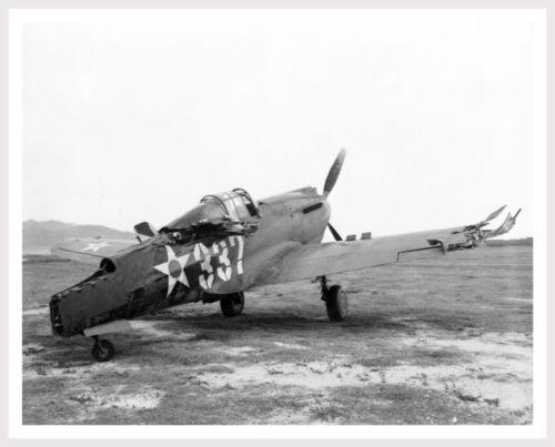 Silver Halide Photo Dec 7 1941 Pearl Harbor Attack Bellows Field Wrecked P-40