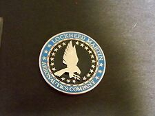 F-16 FIGHTING FALCON CHALLENGE COIN GLOBAL SUSTAINMENT LOCKHEED MARTIN COMPANY
