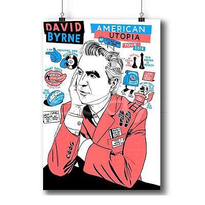 David Byrne American Utopia Custom Poster Print Art Wall Decor
