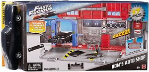 Mattel Fast Furious 8 Customizers Doms Auto Shop Vehicle Car