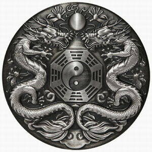 Tuvalu-2019-Double-Dragon-Chinese-Mythical-Creatures-2-2-Oz-Silver-Antiqued
