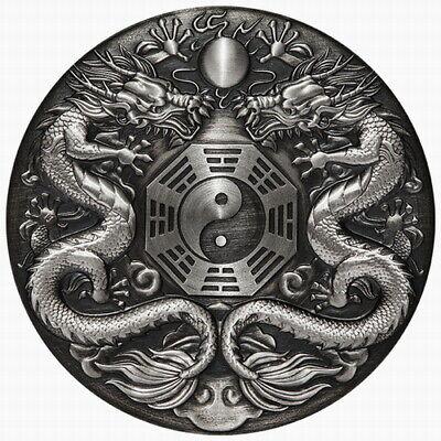 Tuvalu 2018 Unicorn Qi Lin Mythical Creatures Antiqued $2 2 Oz Silver Antique