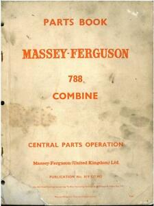 Agriculture/farming Nice Mf 788 Combine Operators Instruction Book