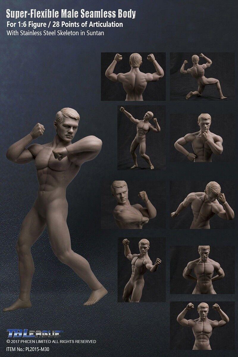 de moda Tbleague 1 6 súper flexible sin sin sin costuras cuerpo bronceado músculo masculino figura PL2015-M30  perfecto