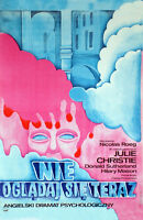 Don't Look Now Julie Christie Donald Sutherland 11x17 Movie Poster Polish Art