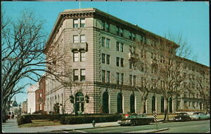 WASHINGTON DC Methodist Building Vintage Town View Old 1950's Cars Postcard