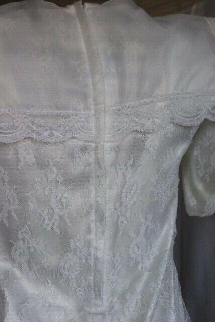 Gunne Sax Ivory Dress Girls Short Sleeve Jessica … - image 10