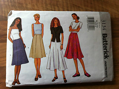 BUTTERICK fast and easy vintage sewing pattern SKIRTS size 8, 10, 12 (3134)
