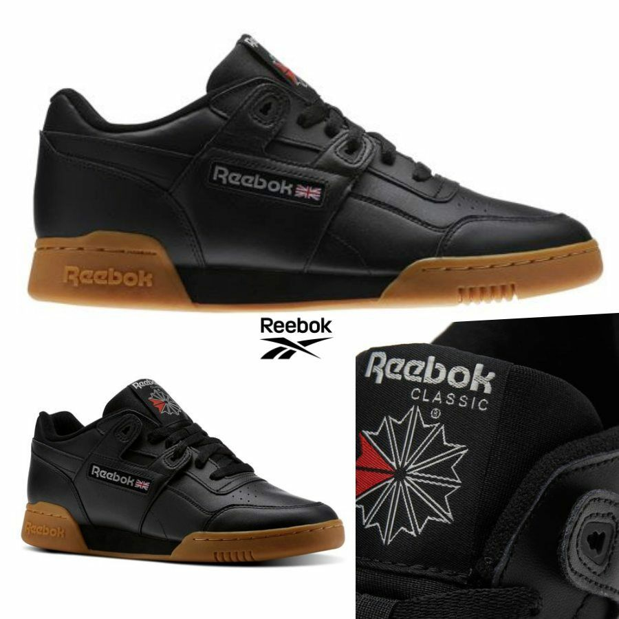 Reebok Classic Workout Plus Runner Leather shoes Black CN2127 SZ 5-12.5