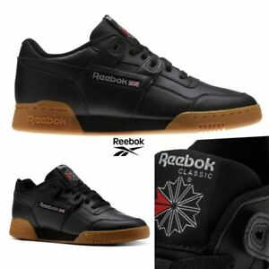 89f077fb24922 Image is loading Reebok-Classic-Workout-Plus-Runner-Leather-Shoes-Black-