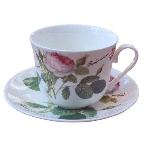 Jumbo Tasse M sous assiette Redoute Roses roses tasse Roy Kirkham porcelaine 297013