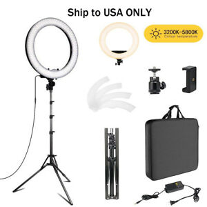 18inch-Photo-Video-Bi-color-LED-Selfie-Ring-Beauty-Light-with-Stand-Selfie-light