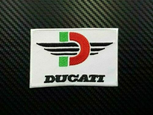 BUELL DUCATI MOTORCYCLE SPORTS RACING BIKER Embroidered Patch Iron On Sew Logo