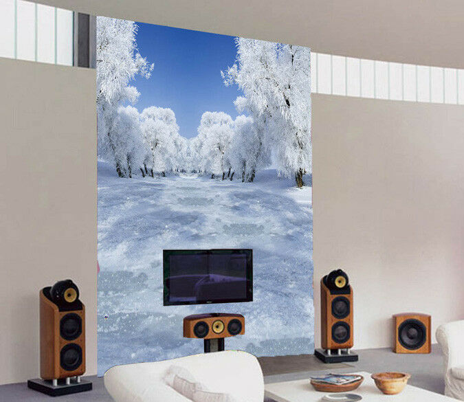 3D Ice Snow Forest 7 Wall Paper Murals Wall Print Wall Wallpaper Mural AU Kyra