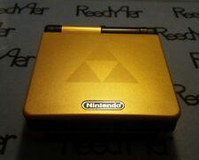 Gold & Black Zelda Triforce Gameboy Advance SP *MINT* AGS-101 Nintendo System gb
