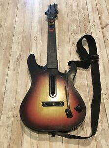 PS3 PlayStation 3 Guitar Hero Sunburst Wireless 95451.805  With Strap No Dongle