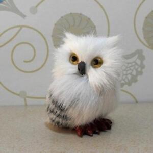 Realistische-Hedwig-Owl-Toy-Mini-Simulation-Modell-Weihnachtsgeschenk-Neu