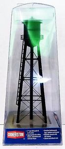 N Scale Walthers Cornerstone 933-3832 Assembled Black City Water Tower