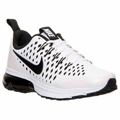 Nike Air Max 2018 Mens Sz 8.5 Running Shoes White Black Sneaker womens 10
