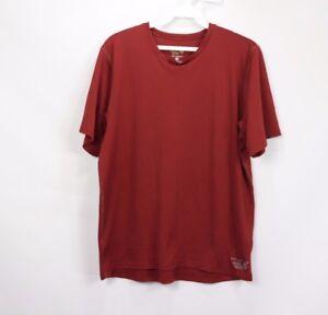 Mountain-Hardwear-Mens-Small-Short-Sleeve-Hiking-Camping-T-Shirt-Maroon