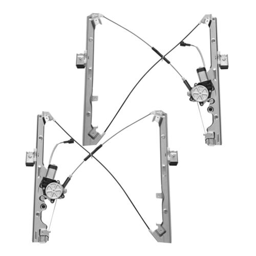 Front Left+Right Power Window Regulator w// Motor Fit Chevy//GMC//Cadillac Multi