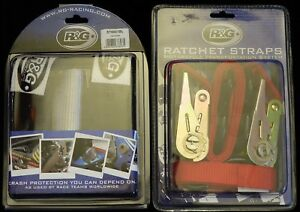 R-amp-G-Motorcycle-Handlebar-Tie-Down-bar-Straps-amp-Ratchets-for-Trailers