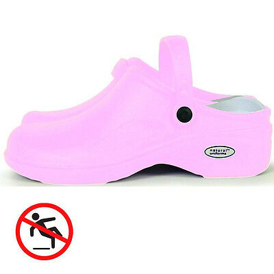 Ultra Lite Clogs, Shock Absorbing, Anti Bacteria, Non Slip in Pink w/Free Socks