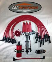 Small Cap Ford Fe 352-390-427-428 Red Hei Distributor + Round Coil + Plug Wires