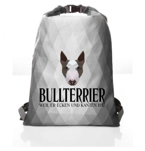 Polygon Beutel BULLTERRIER  Siviwonder Geometrisch Turnbeutel Rucksack Hund