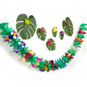 EG-3M-Hawaiian-Garlands-Flower-Banner-Bunting-Hula-Birth-Party-Hanging-Decor-Gr